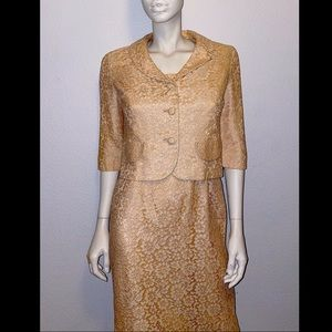 1950's Bombshell Lace Wiggle Dress with Jacket